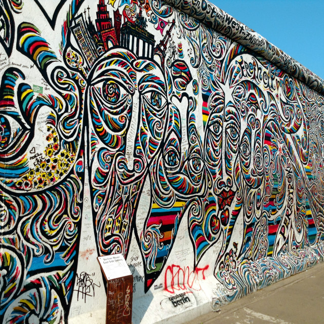 """Berlin Wall Street Art"" stock image"