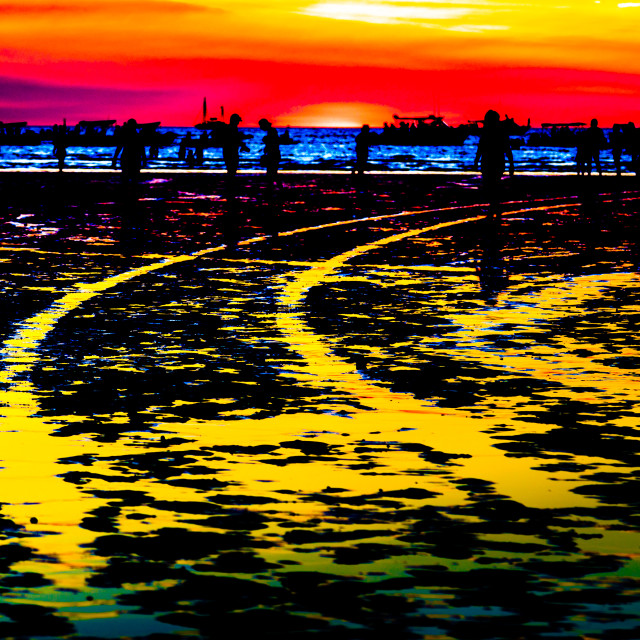 """Colourful impressionistic photo of Mindle Beach Darwin NT"" stock image"