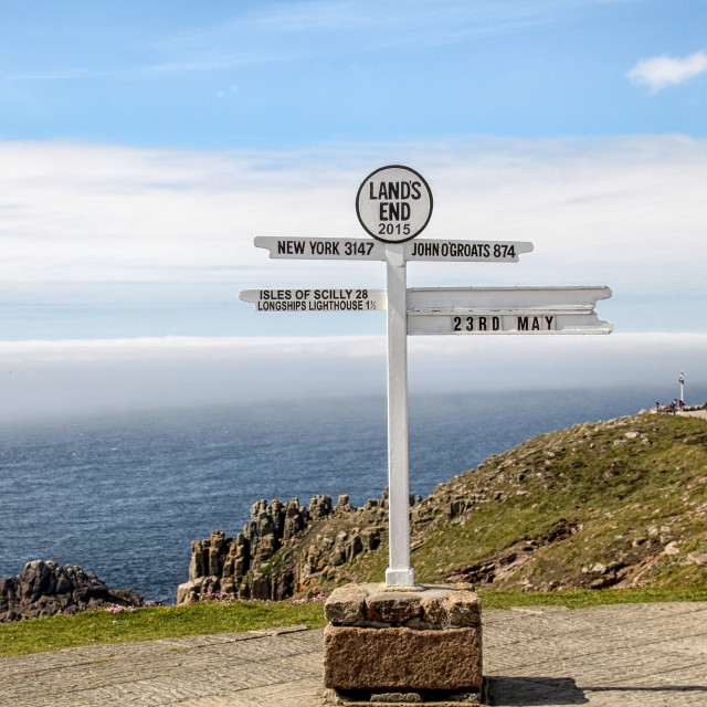 """Landsend sign"" stock image"