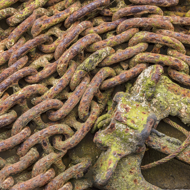 """Rusty Chain & Anchor"" stock image"