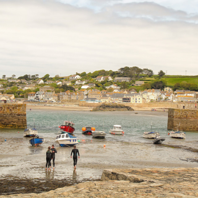 """St Michaels mount harbour"" stock image"
