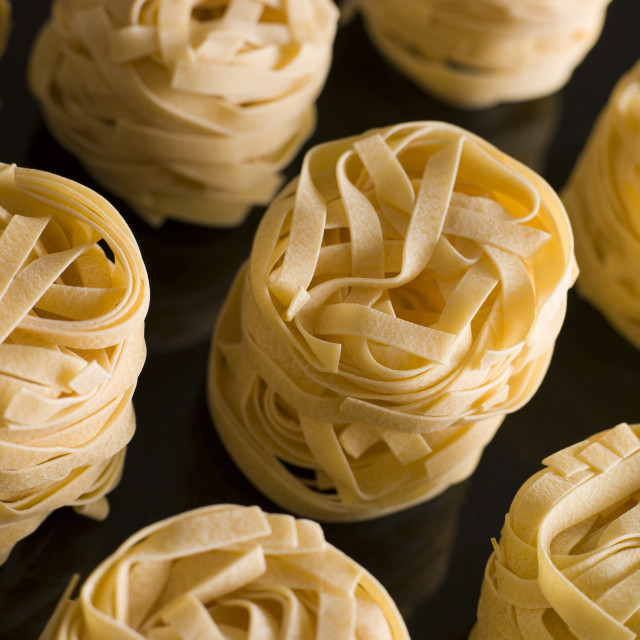 """Dried Tagliatelle Nests"" stock image"