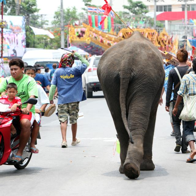 """""""ASIA THAILAND ISAN YASOTHON TRADITION"""" stock image"""