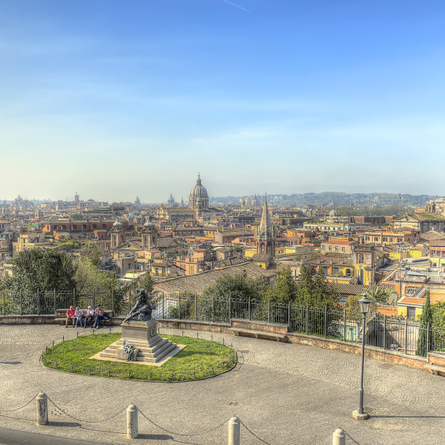 """Rome landscape HDR"" stock image"