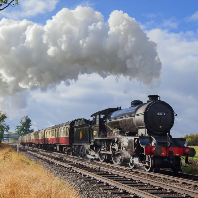 """1950's British Railways Steam Train"" stock image"