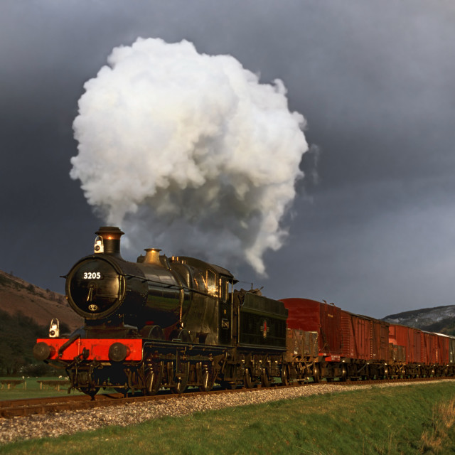 """Goods train before the storm"" stock image"