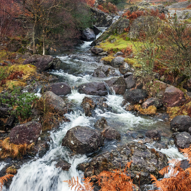 """""""Far Easedale Ghyll"""" stock image"""