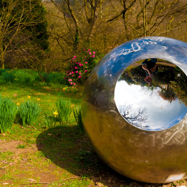 """""""Stainless Steel Sculpture"""" stock image"""