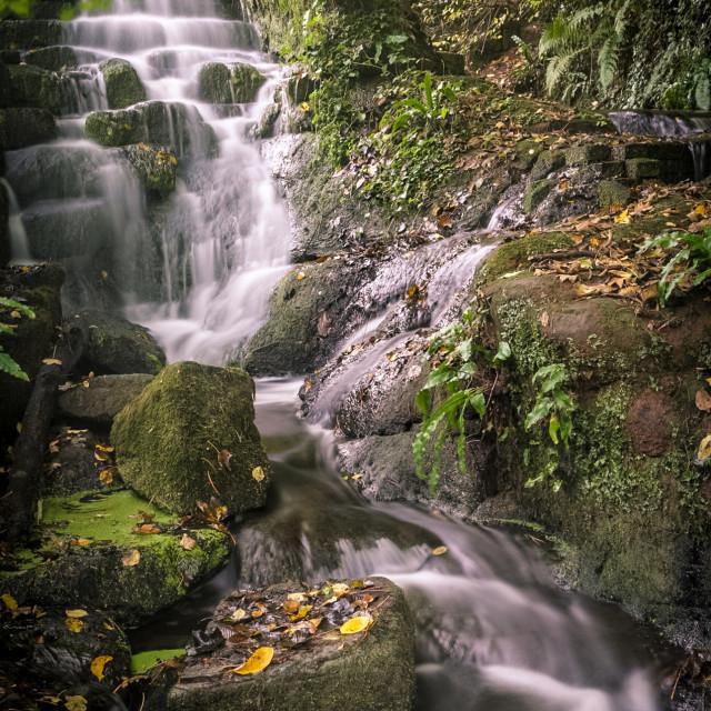"""Badger Waterfall"" stock image"