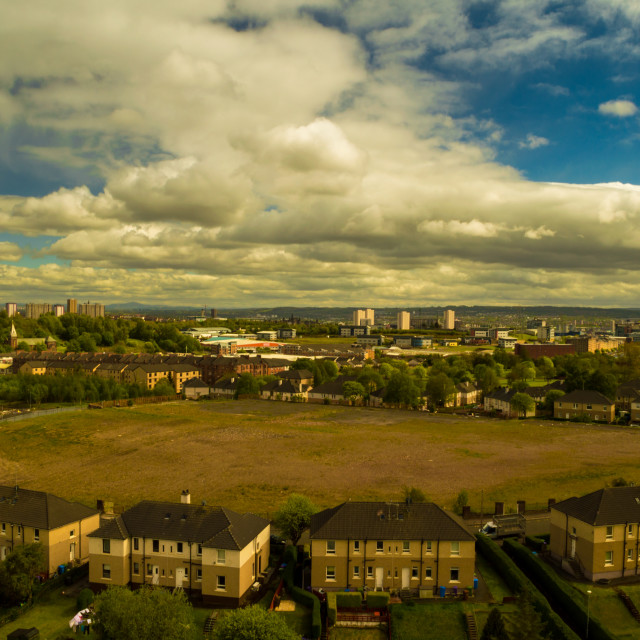 """""""Looking over Glasgow"""" stock image"""