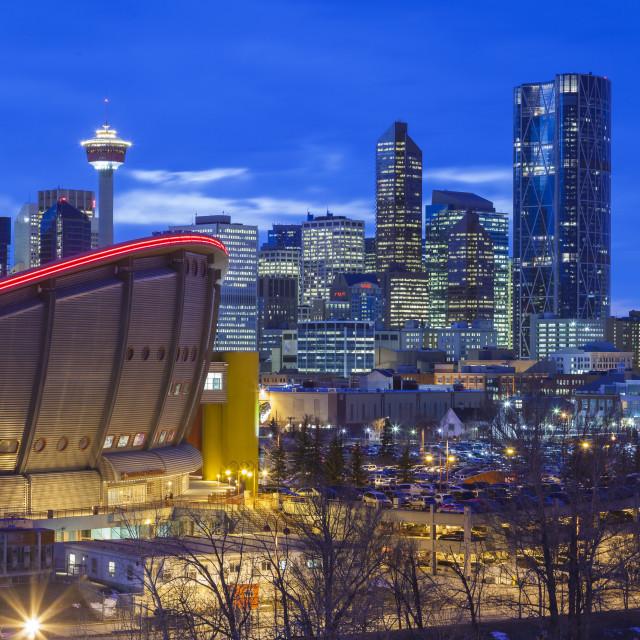 """downtown Calgary"" stock image"