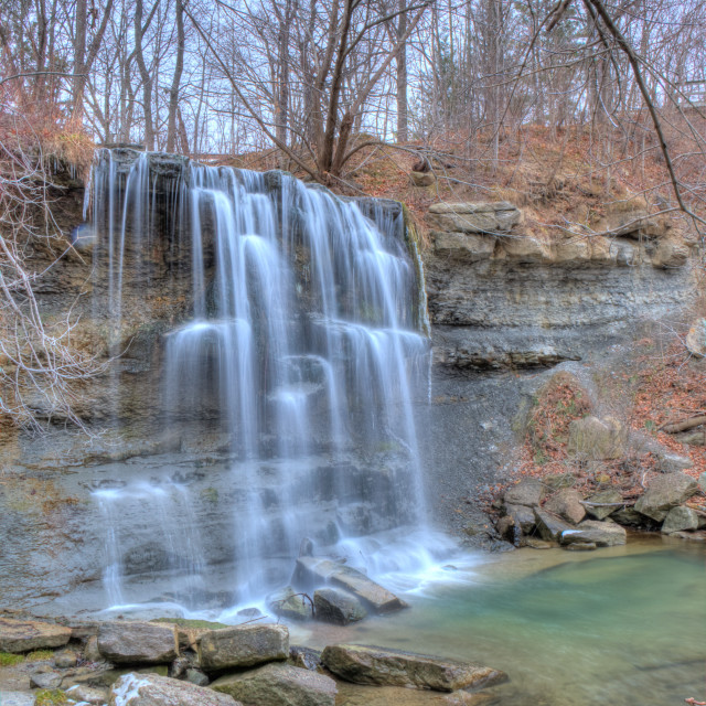 """Rock Glen falls"" stock image"