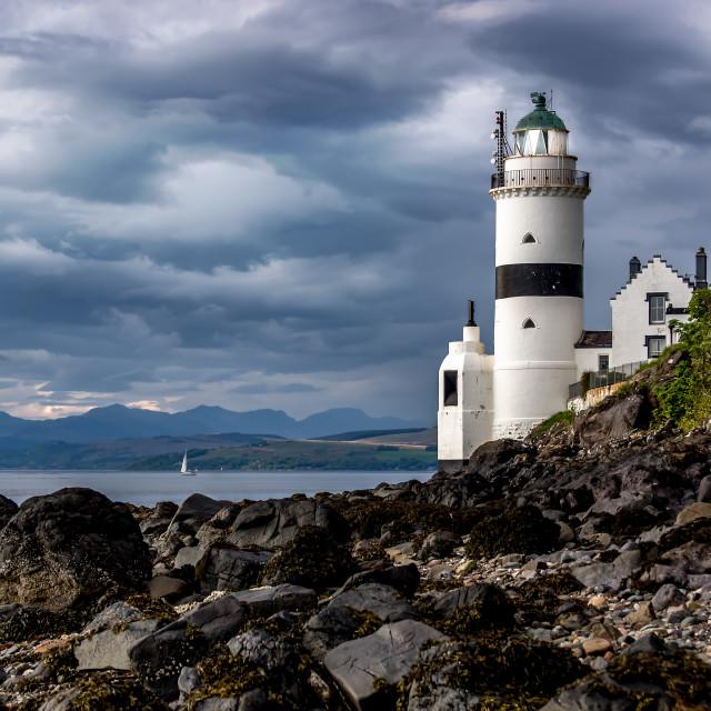 """Cloch Lighthouse"" stock image"