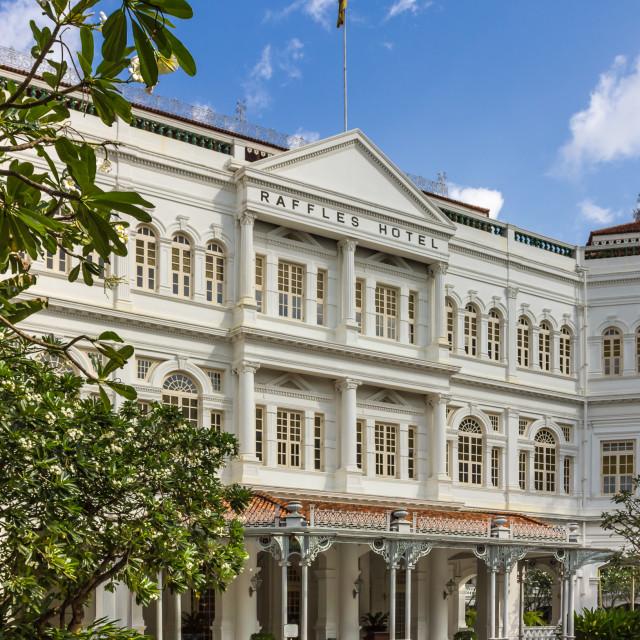 """Raffles Hotel Singapore"" stock image"
