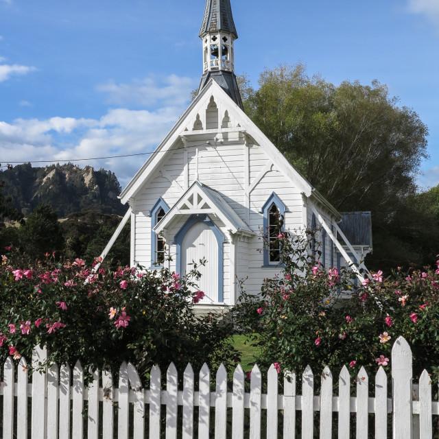 """""""Tinui church"""" stock image"""