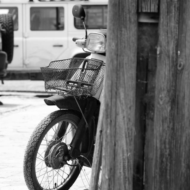 """Vintage motorcycle"" stock image"