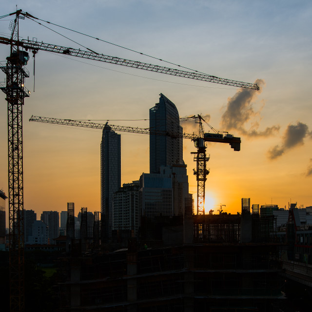 """Jakarta : Urban Sunset"" stock image"