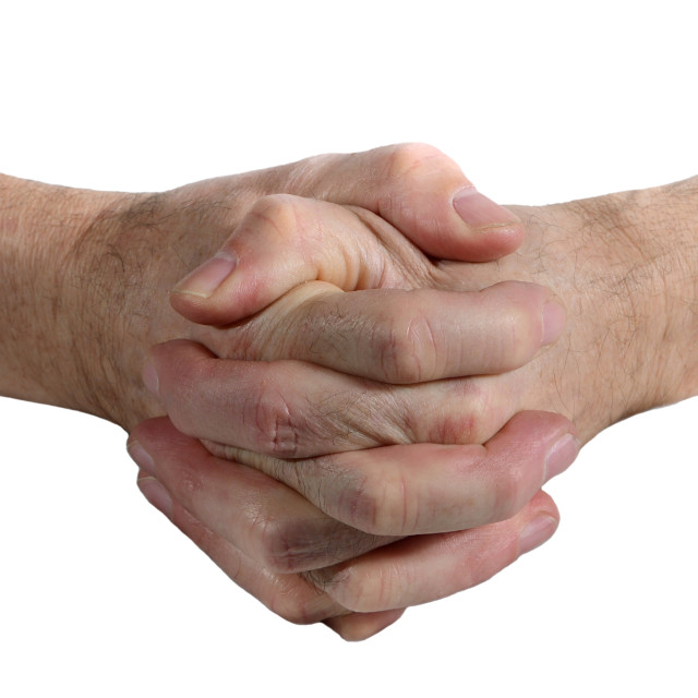 """Clasped hands"" stock image"