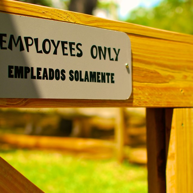 """Employees only"" stock image"