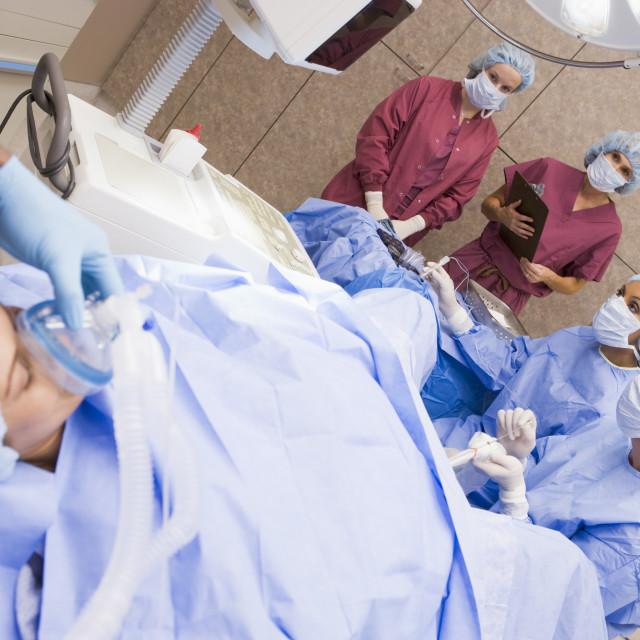 """Patient undergoing egg retrieval procedure"" stock image"