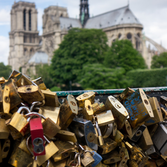 """Locks of Love (2)"" stock image"