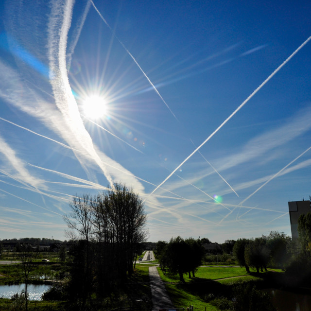 """""""Chemtrails-2"""" stock image"""