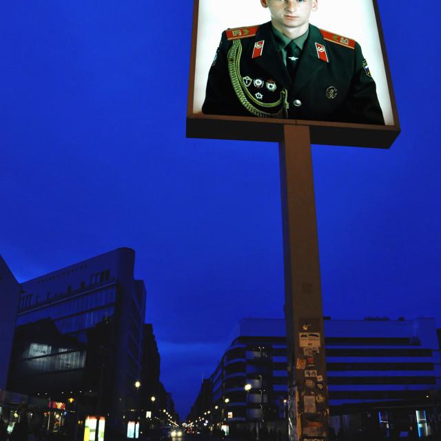 """Checkpoint Charlie. (Friedrichstraße, Berlin)"" stock image"