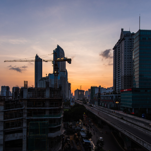 """Jakarta: A day passes by"" stock image"