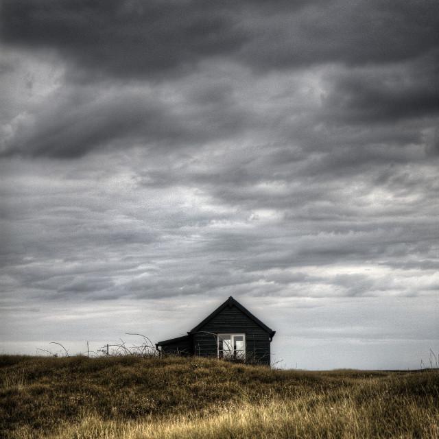 """Hut at Blakeney Point"" stock image"