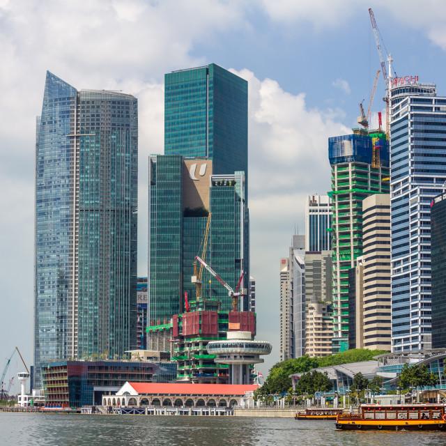 """Singapore River"" stock image"