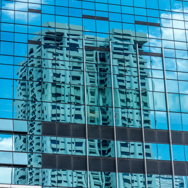 """""""Building reflection"""" stock image"""