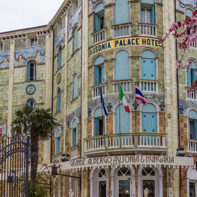"""""""Ausonia Palace Hotel,"""" stock image"""