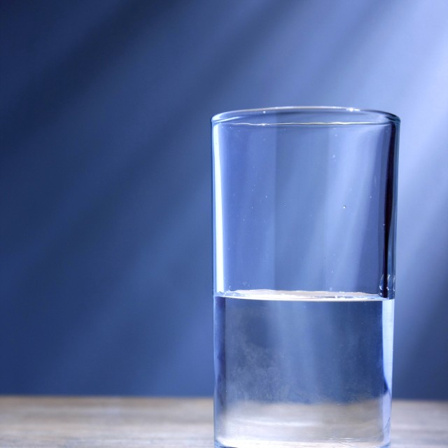 """Glass of cold water"" stock image"
