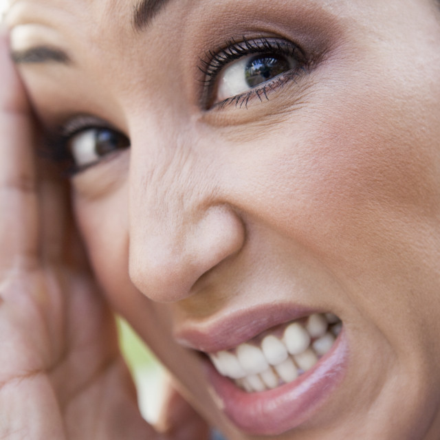 """""""Close-up of frustrated woman"""" stock image"""