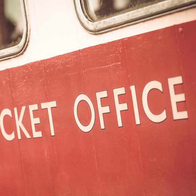 """ticket office sign"" stock image"