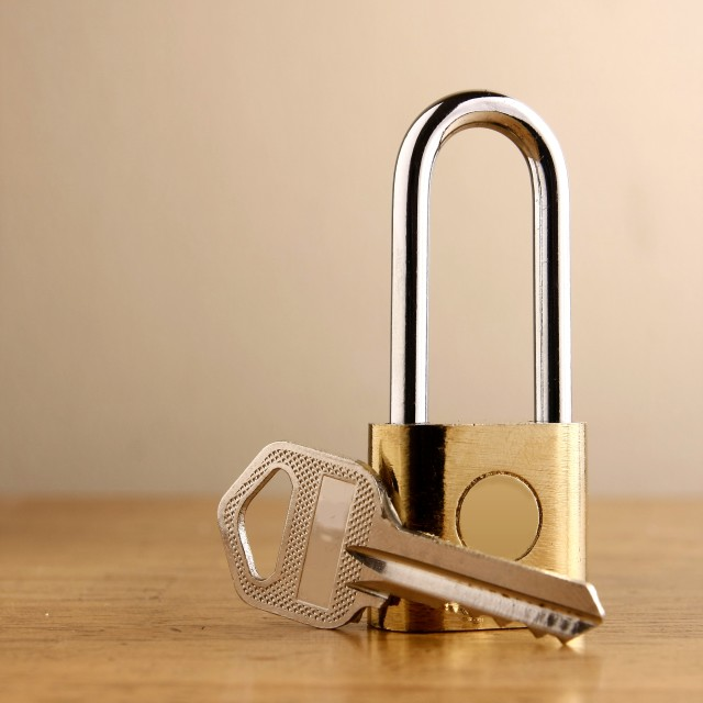 """Padlock and a key"" stock image"