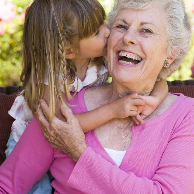 """Grand daughter with grandma"" stock image"