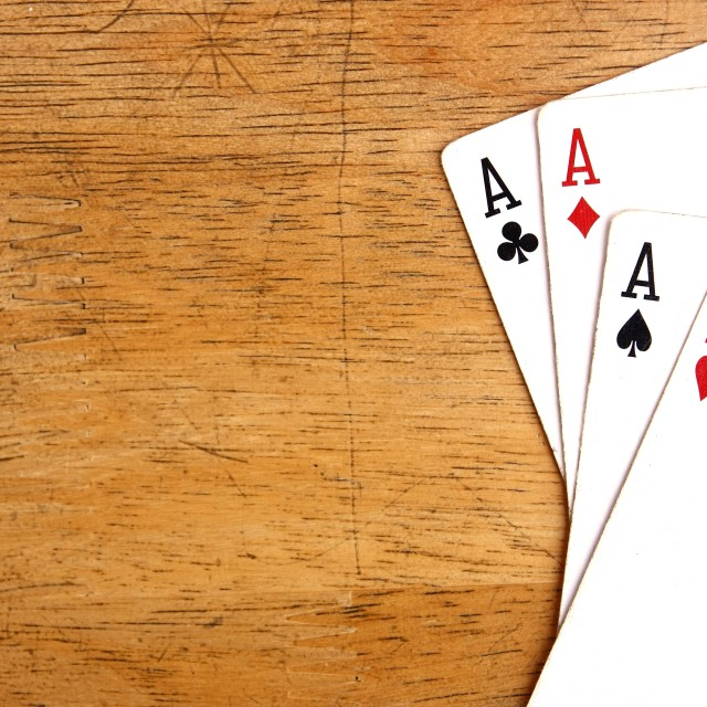 """Four aces of a playing card deck"" stock image"