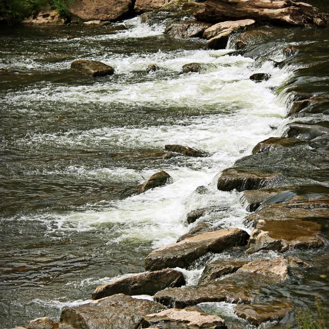 """Monnow 'rapids'"" stock image"