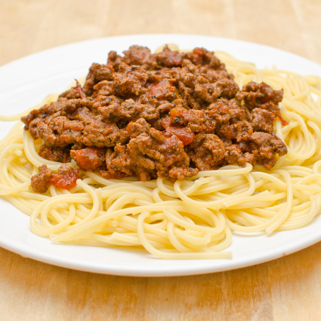 """Spaghetti Bolognaise"" stock image"