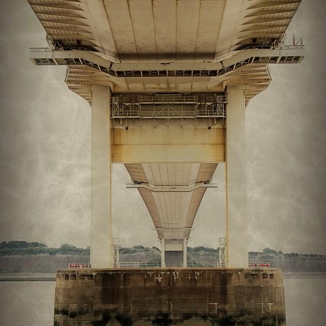 """Old Severn Bridge"" stock image"