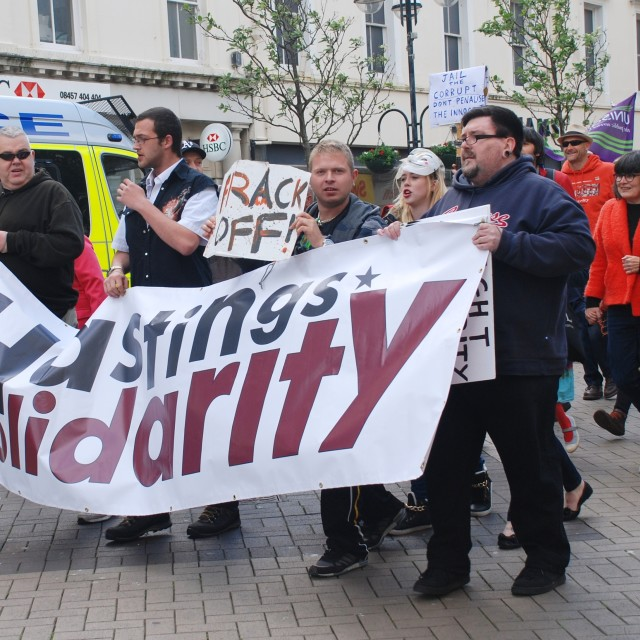 """Solidarity march, Hastings"" stock image"