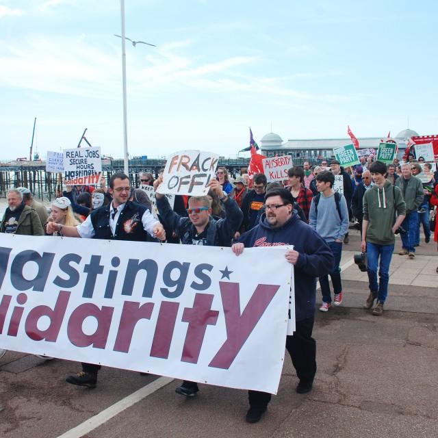 """Hastings Solidarity march"" stock image"