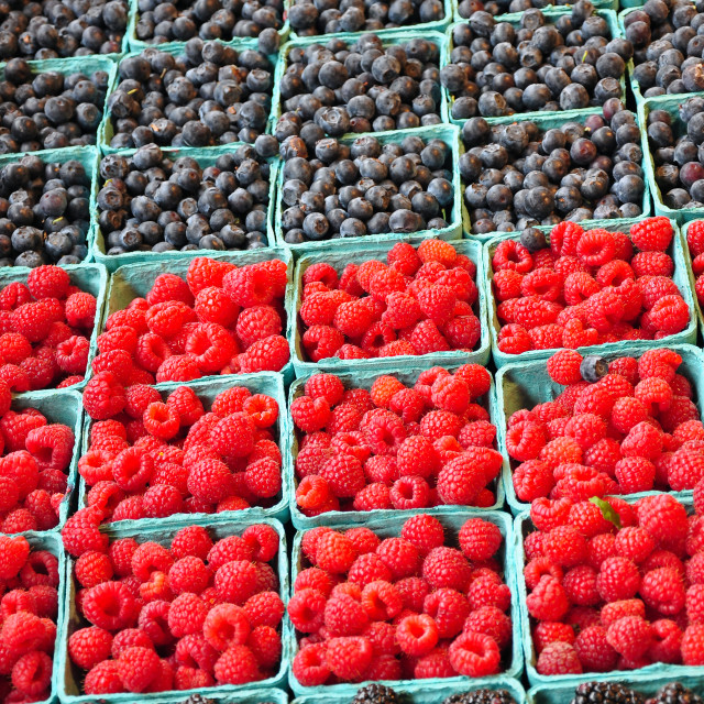 """Fresh berries at market"" stock image"