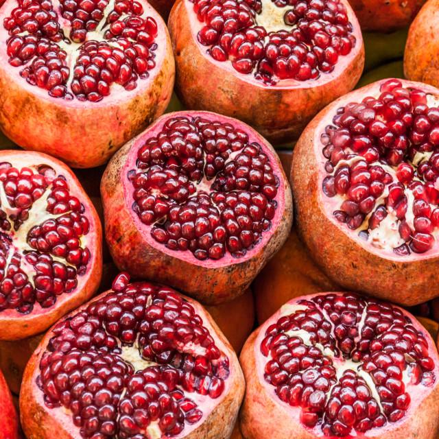 """Pomegranates"" stock image"