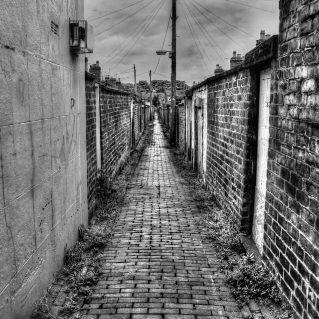 """Chester back street"" stock image"