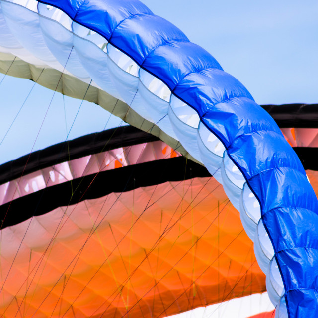 """Paramotor wings close up"" stock image"