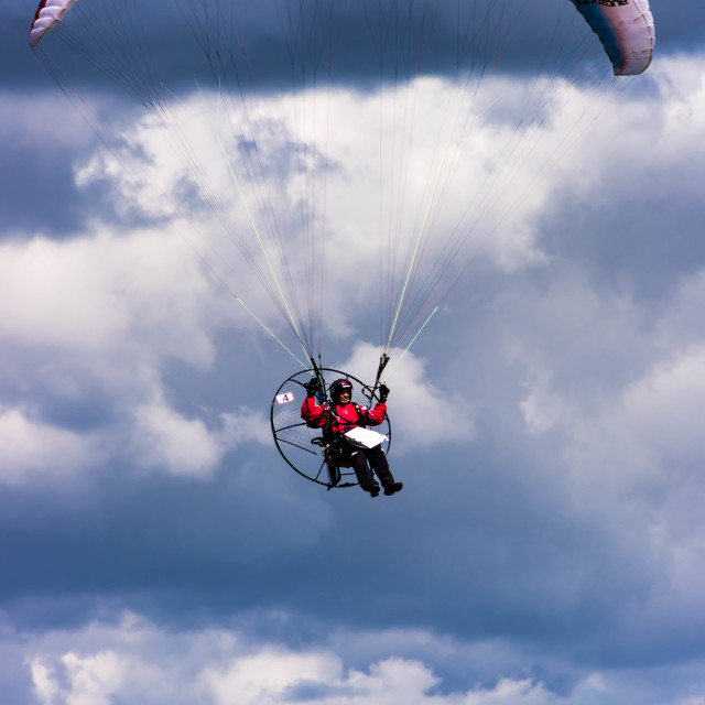 """Paramotor Pilot"" stock image"