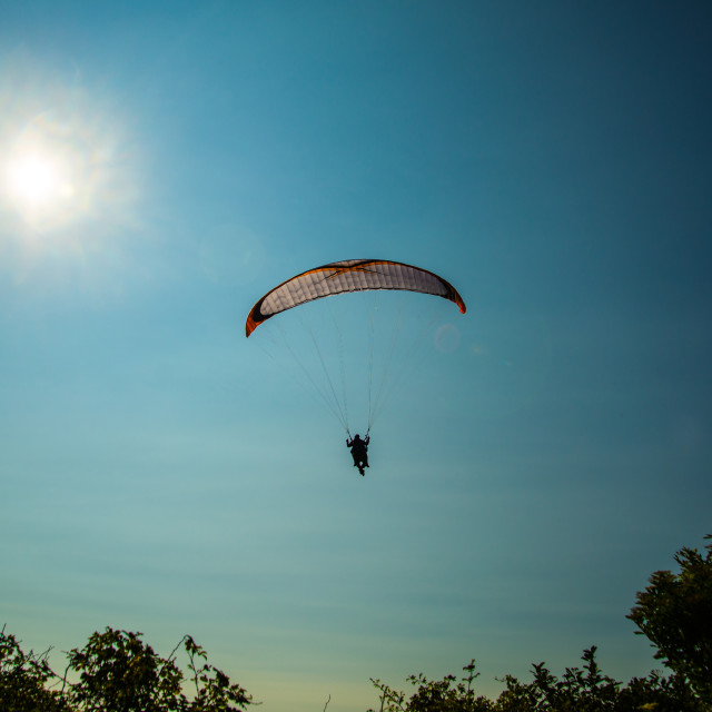 """A nice summery paragliding 3"" stock image"