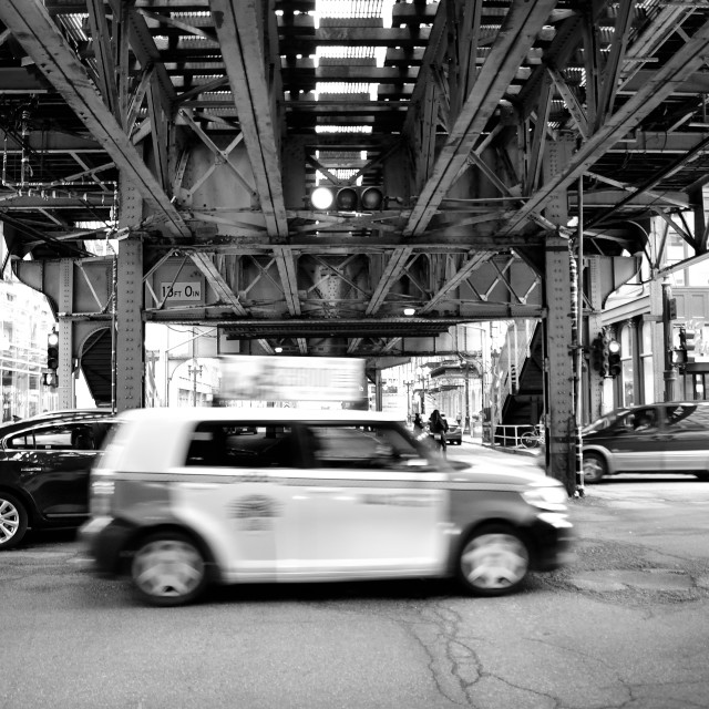"""Chicago traffic"" stock image"